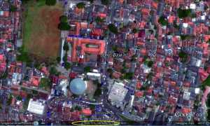 Letak SDN Ciputat 1 dilihat melalui satelit